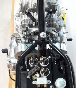 Triumph Trident Engine and Frame viewed from above